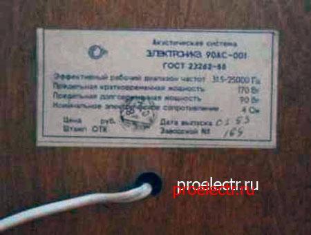 Электроника 90АС-001